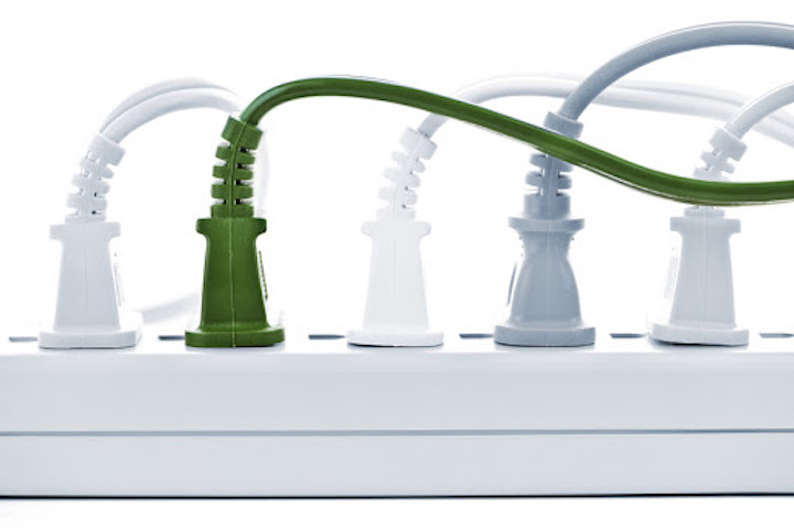 surge protector in use