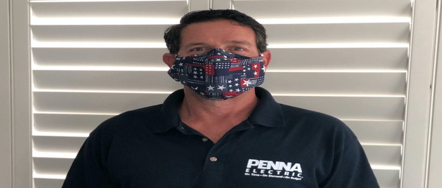penna electric ceo with mask