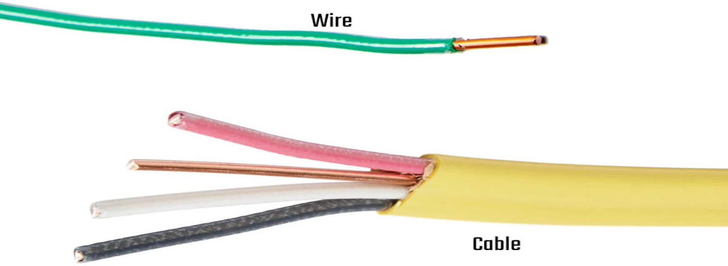 types of electrical wiring - cable vs wire
