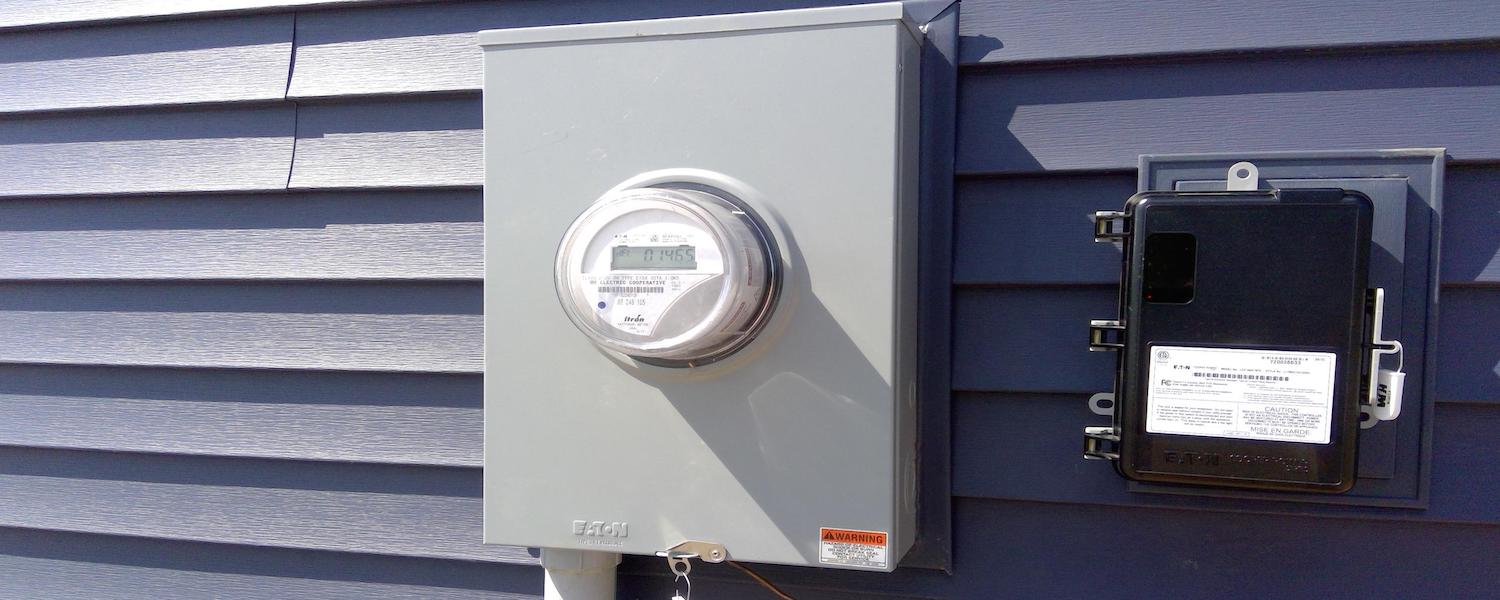 electrical meter on a panel