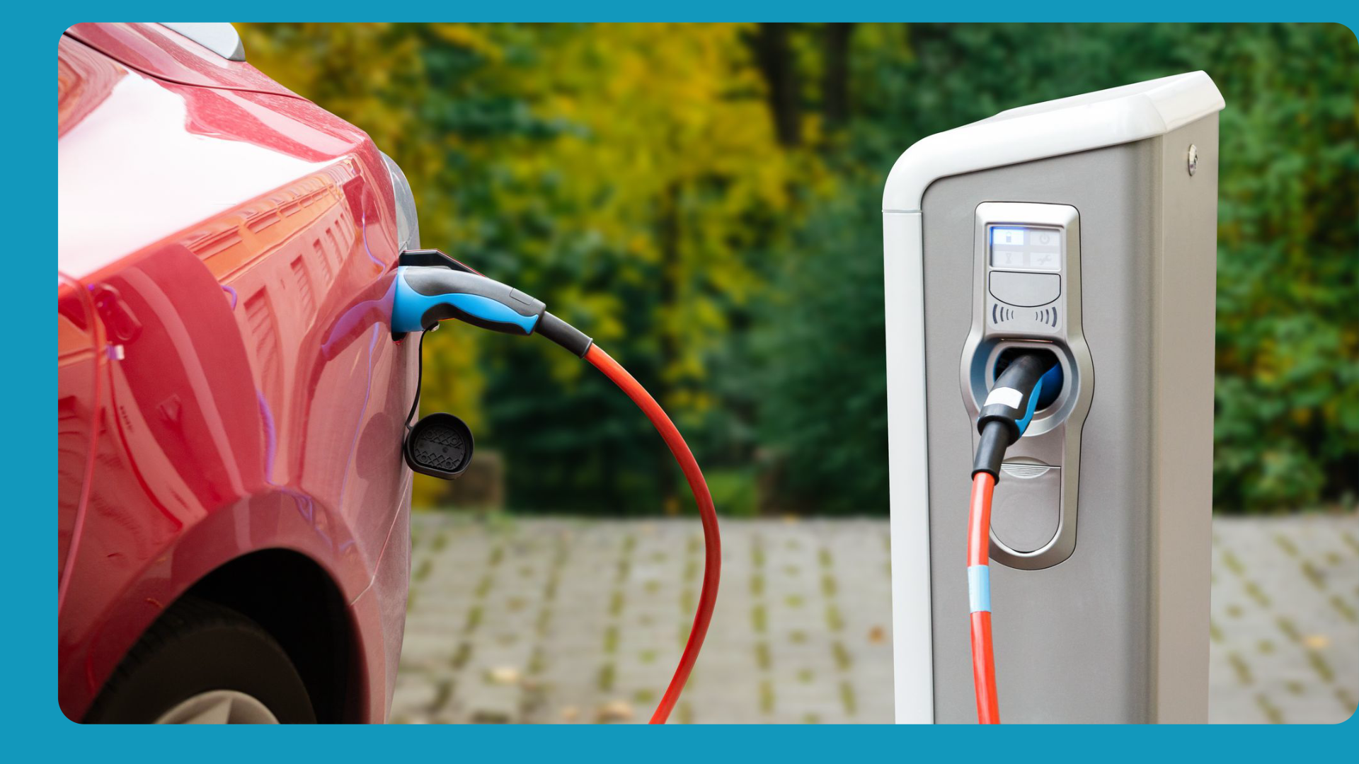 electric vehicle charging at a station