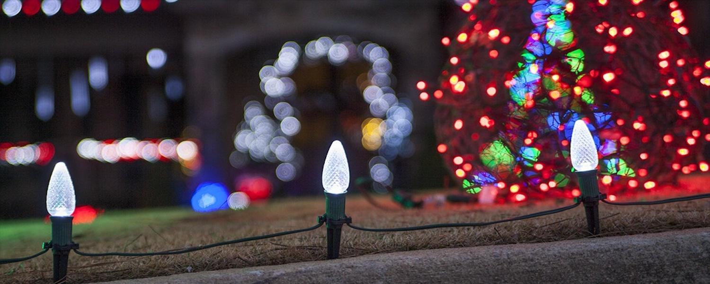 yard Christmas lights