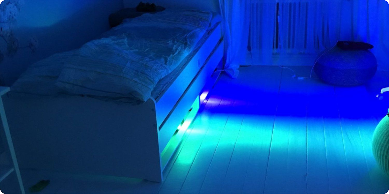 types of under bed lighting