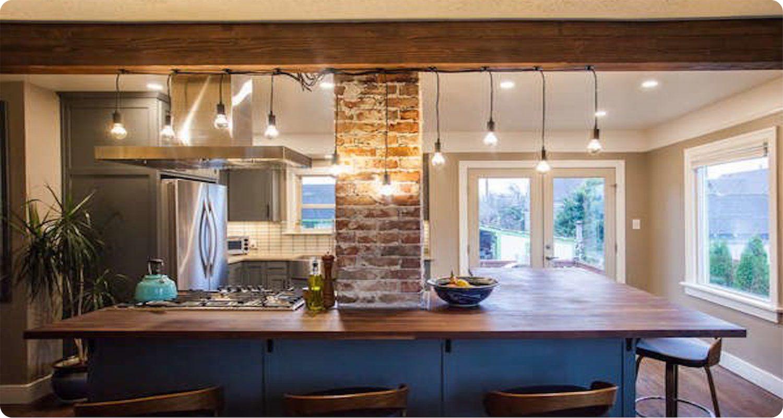 kitchen string lights